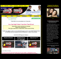 E-commerce Site: magnets promoting teen drivers