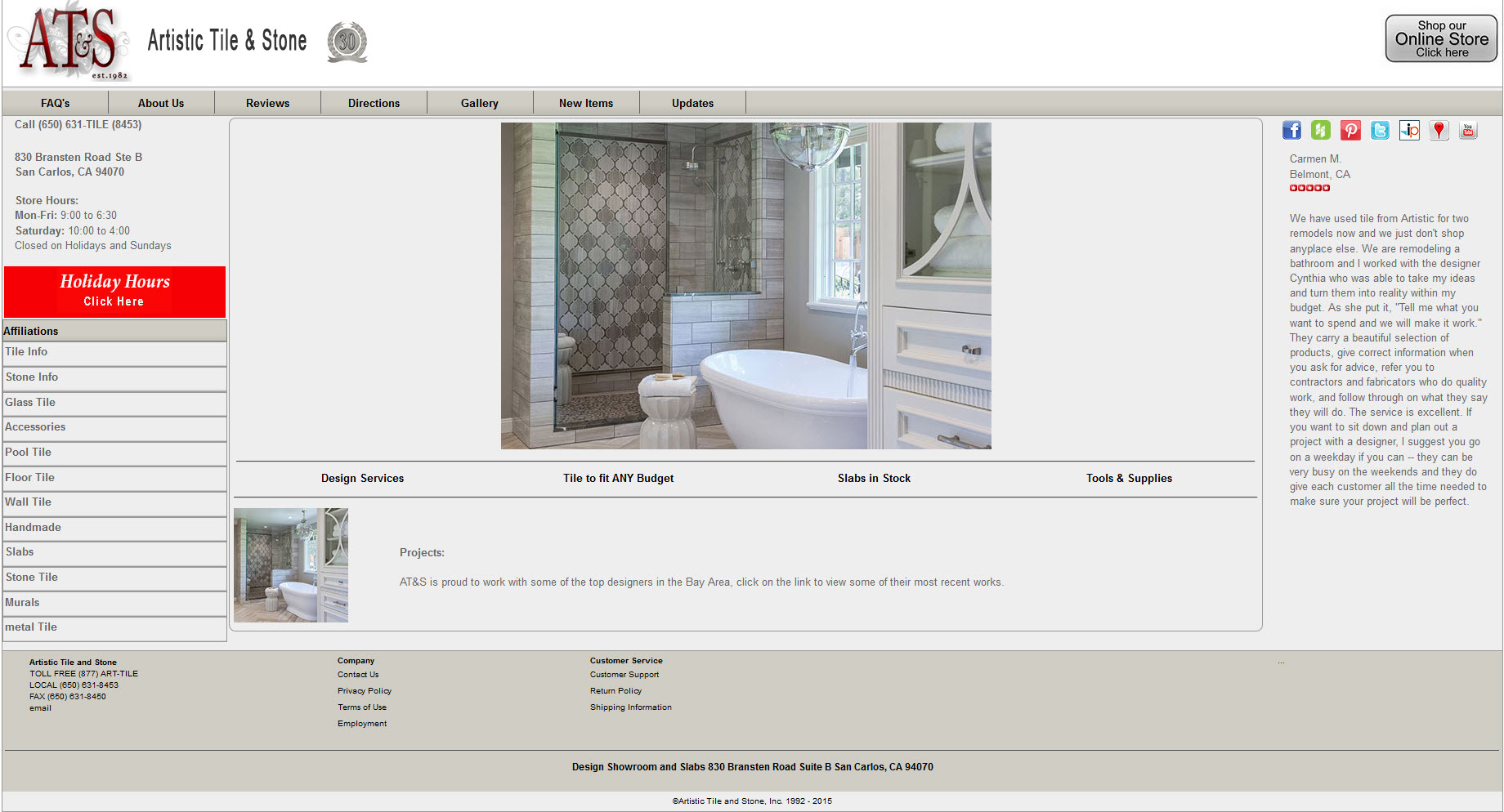 Before After Gallery Of Website Redesigns Designs With Merit - Artistic tile and stone san carlos